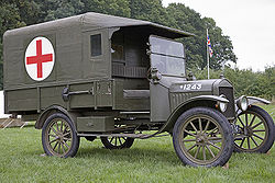 Ford 1916 Model T Field Ambulance. This canvas on wood frame model was used extensively by the British u0026 French as well as the American Expeditionary Force ... & History of Ford Motor Company - Wikipedia markmcfarlin.com