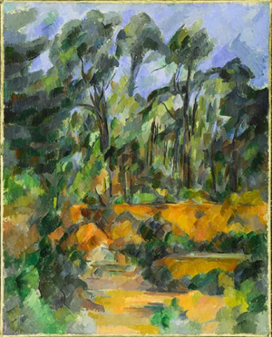 Forest (painting) - Image: Forest, a painting by Paul Cézanne, circa 1902 1904