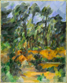 Forest, a painting by Paul Cézanne, circa 1902-1904.png