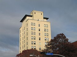 Kyle Hotel, a former hotel-turned-apartment building, at 111 Main Street in December 2009.