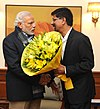 Former cricketer K. Srikkanth meets PM Modi.jpg