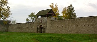 National Register of Historic Places listings in Randolph County, Illinois - Image: Fort de Chartres front curtain and gatehouse