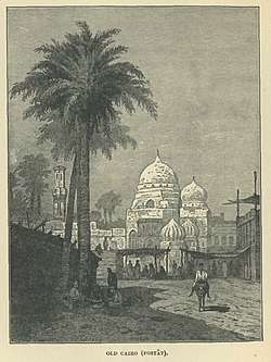 A drawing of Fustat, from Rappoport's History of Egypt
