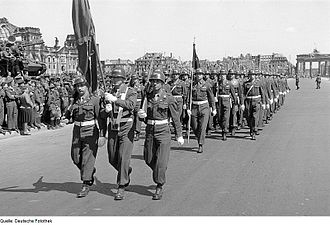 78th Infantry Division (United States) - On parade in Berlin, 8 May 1946