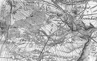 Herrnhut - Image: Fotothek df rp h 0510001 Herrnhut Ruppersdorf O.L.. Oberreit, Sect. Zittau, 1844 46