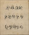Fourteen physiognomies. Drawing, c. 1789. Wellcome V0009132ER.jpg
