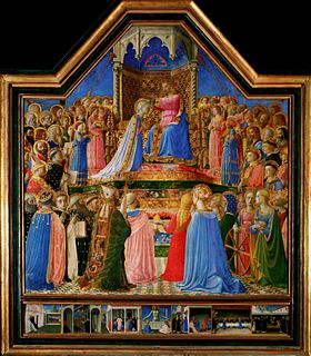 <i>Coronation of the Virgin</i> (Fra Angelico, Louvre) altarpiece by Fra Angelico, Louvre