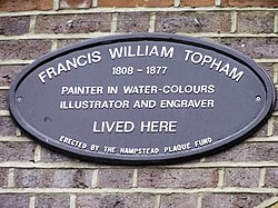 Francis william topham plaque in london