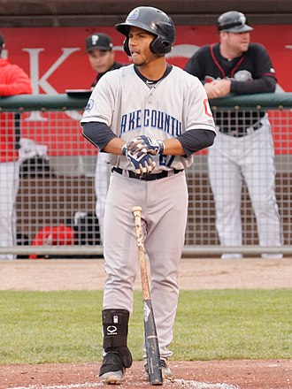 Francisco Mejía - Mejía with the Lake County Captains in 2016
