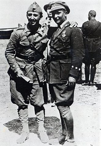 Francisco Franco - Francisco and his brother Ramón in North Africa, 1925