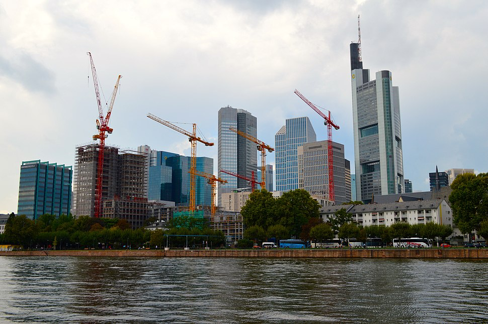 Frankfurt Skyline with Cranes