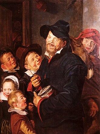 """The Rommelpot Player - Image: Frans Hals Le Joueur de rommelpot """"avec cinq enfants"""""""