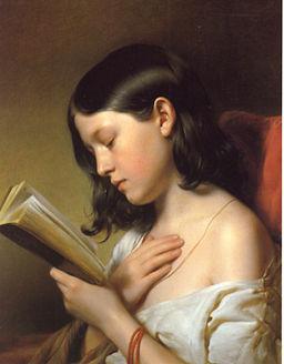 Franz Eybl, Lesendes Mädchen