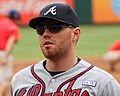 Freddie Freeman Braves versus Rangers in TX Sept 2014.jpg