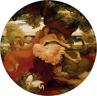 Hesperides - The Garden of the Hesperides by Frederick, Lord Leighton, 1892.