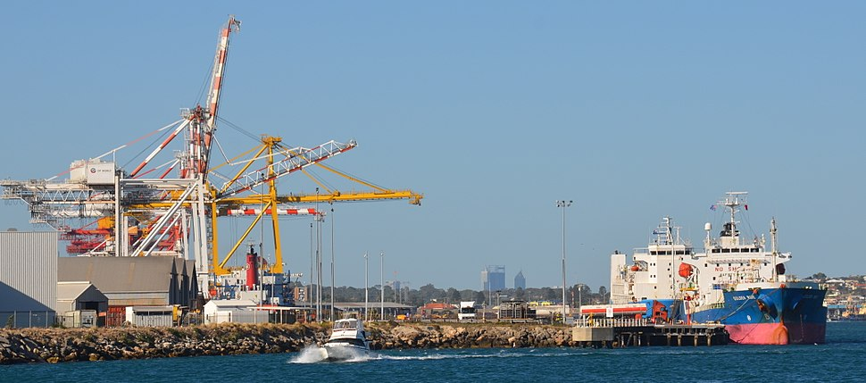 Fremantle Harbour looking to Perth 2015