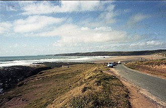 Freshwater West - Little Furznip, Freshwater West in July 1984