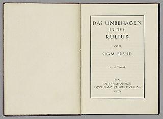 <i>Civilization and Its Discontents</i> book of Sigmund Freud