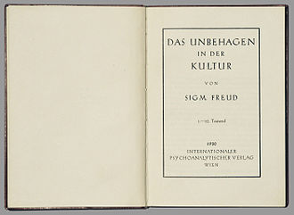 Civilization and Its Discontents - 1930s title page German edition