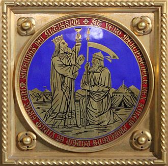 Psalm 110 - The altar of the Dominican church at Friesach in Austria: Abraham meeting Melchizedek.