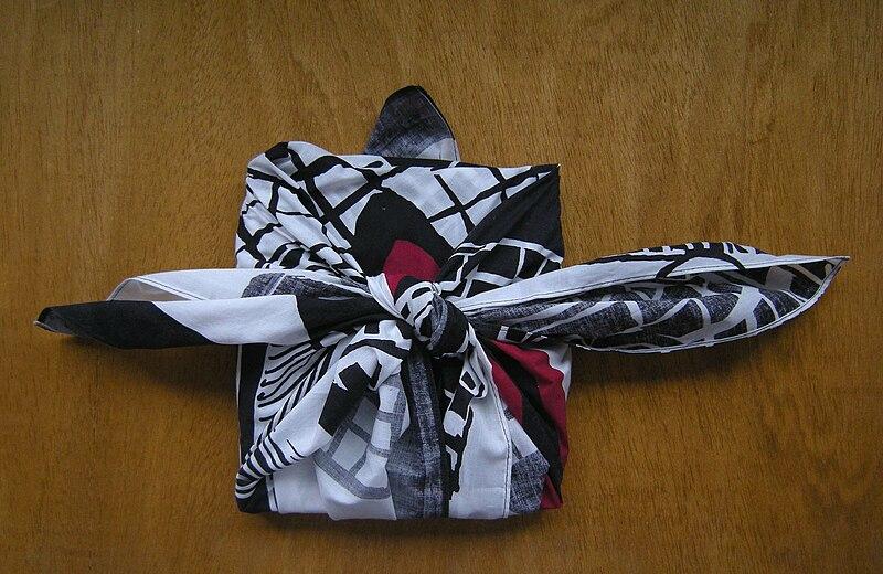Furoshiki book wrap. Photo by F. Hundertwasser via Creative Commons.