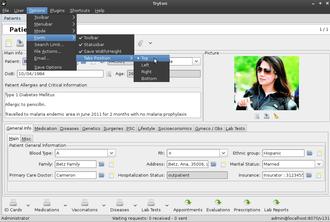 Tryton - Image: GNU Health Tryton client configurarion