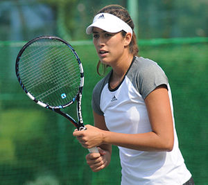 Garbiñe Muguruza - Garbiñe Muguruza at the Toray Pan Pacific Open 2014 where she was a doubles finalist