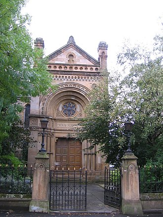 Religion in Scotland - Garnethill Synagogue (built 1879) in Glasgow is the oldest synagogue in Scotland