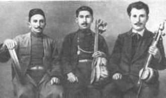 Gurban Pirimov - The legendary trio: Jabbar Garyagdioglu (left), Gurban Primov (centre) and Sasha Ohanezashvili