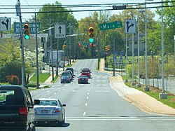 US 321 S in Downtown Gastonia