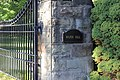 Gate to Wilpen Hall, Sewickley Heights, Pennsylvania, 2012-09-11.JPG