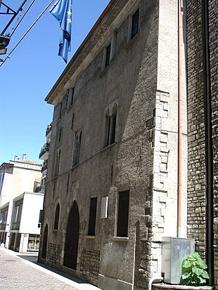 The birthplace of Blessed Pope Innocent XI at Como Geburtshaus Innozenz XI.jpg