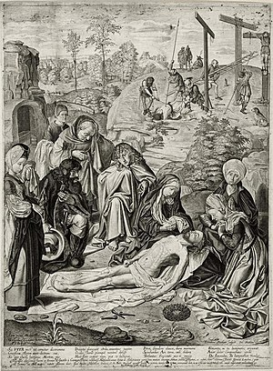 Joan Albert Ban - Image: Geertgen lamentation copy Jacob Matham 1620