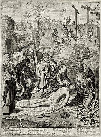 Geertgen tot Sint Jans - Image: Geertgen lamentation copy Jacob Matham 1620