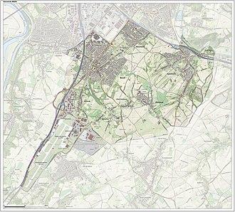 Beek - Topographic map of Beek, June 2015