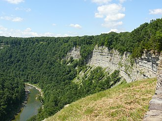 Letchworth State Park - View of the Genesee River and gorge