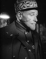 Schauspieler George Macready