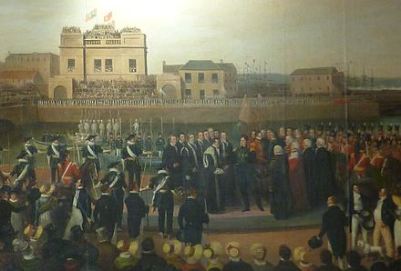 George IV landing at Leith in 1822 George IV landing at Leith.JPG