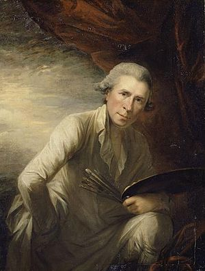 Self-portrait of George Romney who lived at 5 ...
