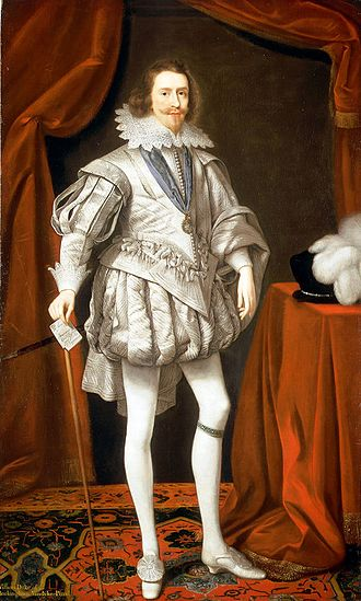 George Villiers, 1st Duke of Buckingham - Villiers as Lord High Admiral, a portrait by Daniel Mytens the Elder, 1619