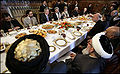 George W. Bush on a lunch break with Afghan politicians in Kabul.jpg