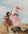 Georges Jules Victor Clairin Galantes Paar an der Meeresküste.jpg