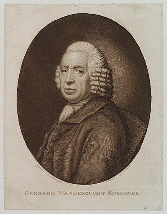 Gerard Vandergucht - Engaving of Gerard Vandergucht by James Caldwall