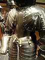 German Three-Quarter Armour, composite, cuisse from tournament armour late 1500s, upper part c. 1650 - Royal Ontario Museum - DSC09474.JPG