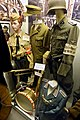 German WW2 uniforms; Hitlerjugend, drum; SS cap; Wehrmacht Volkssturm; Panzerfaust; Waffen-SS Streifendienst; front Feldgenardermie; etc. Lofoten Krigsminnemuseum, Svolvær, Norway 2019-05-08 DSC00272.jpg