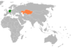 Lage von Deutschland und Kasachstan