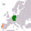 Lage von Deutschland und Portugal