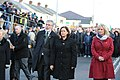 Gerry Adams, Mary Lou McDonald and Michelle O'Neill lead the funeral cortege. (32833911113).jpg