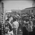 Gila River Relocation Center, Rivers, Arizona. A portion of the large crowd that attended the Harve . . . - NARA - 538661.tif