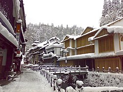 Ginzan Onsen in the snow